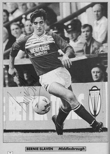 Bernie-Slaven-autograph-signed-Middlesbrough-fc-football-memorabilia-signature-northern-ireland-forward-striker-goal-scorer-boro