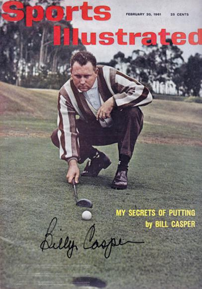Billy-Casper-autograph-signed-golf-memorabilia-Sports-Illustrated-magazine-cover-1961-US-Masters