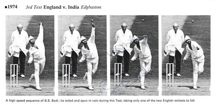 Bishan-Bedi-autograph-signed-india-cricket-memorabilia-1974-test-series-england-edgbastion-signature-singh-bs-left-arm-spinner