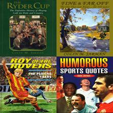Blue-Eyed-Books-Uniquely-Sporting-Sports-Books-Ryder-Cup-Definitive-History-signed-Colin-M-Jarman-Roy-of-the-rRovers-Playing-Years-Humorous-Sports-Quotes