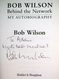 Bob-Wilson-autograph-signed arsenal football memorabilia gunners scotland goalkeeper afc soccer autobiography book behind the network