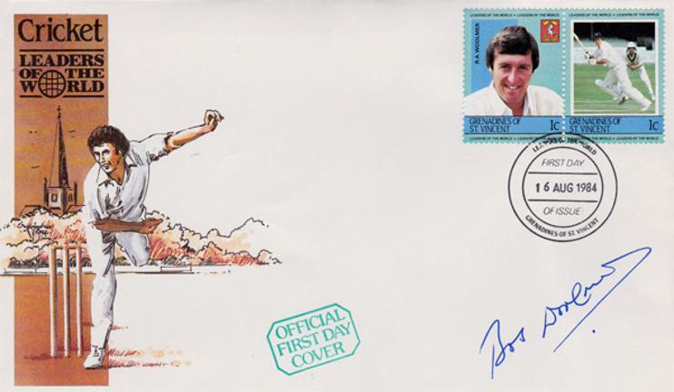 Bob-Woolmer-autograph-Kent-cricket-memorabilia-signed-first-day-cover-autographed-FDC-signature-KCCC-memorabilia