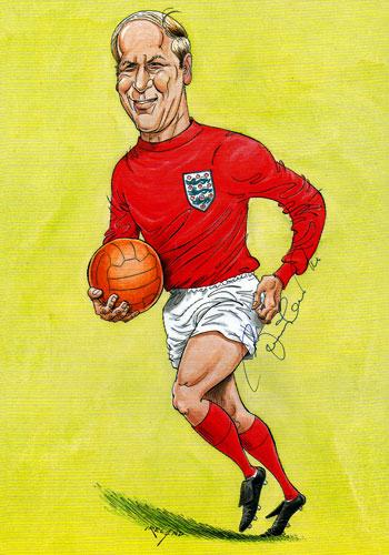 SIR BOBBY CHARLTON signed John Ireland