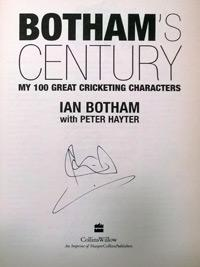 Sir Ian Botham signed autographed Bothams Century first edition cricket book autograph signature