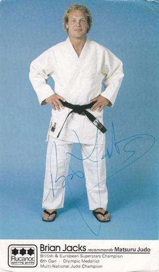 Brian-Jacks-autograph-signed-british-olympic-judo-memorabilia-rucanor-postcard-superstars-champion