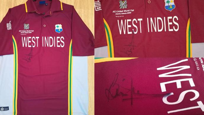 Brian-Lara-autograph-signed-west-indies-cricket-shirt-memorabilia-2003-world-cup-warks-ccc-375-400-500