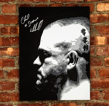 CHUCK-LIDDELL-memorabilia-signed-UFC-memorabilia-Mike-Ramirez-painting-artwork-autograph-Ultimate-Fighting-Championships-MMA-Iceman-wall