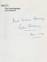 COLIN-COWDREY-autograph-signed-autobiography-of-a-cricketer-kent-cricket-memorabilia-england-captain-MCC-signature-1976-dedicated-200