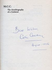 COLIN-COWDREY-autograph-signed-autobiography-of-a-cricketer-kent-cricket-memorabilia-signature-1976-first-edition-kccc