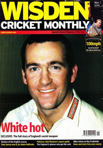 CRAIG WHITE autograph signed Wisden Monthly magazine cover Yorkshire cricket memorabilia yorks CCC england all rounder