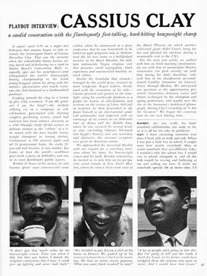 CASSIUS CLAY Playboy interview - Oct 1964