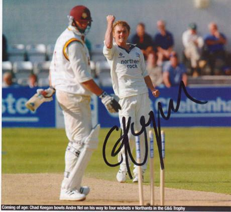 Chad-Keegan-autograph-signed-Middlesex-cricket-memorabilia-Middx-CCC-county-fast-bowler-south-africa