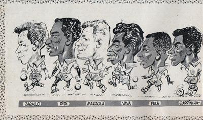 Charles-Buchan-Football-Monthly-September-1958-Sept-buchans-brazil-world-cup-squad-caricatures-pele-didi-garrincha-eylmar-zagallo-mazzola-vava-memorabilia