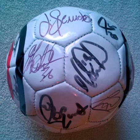 CHARLTON-ATHLETIC FC Official CAFC soccer ball signed by the 2006-07 squad football memorabilia