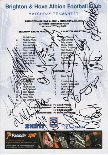 Charlton-Athletic-football Club-CAFC-2008-signed-Team-Sheet-football-memorabilia