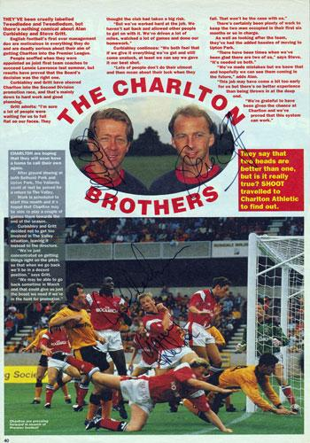 Charlton-Athletic-FC-CAFC-signed magazine article Curbishley Gritt Nelson Leaburn football memorabilia