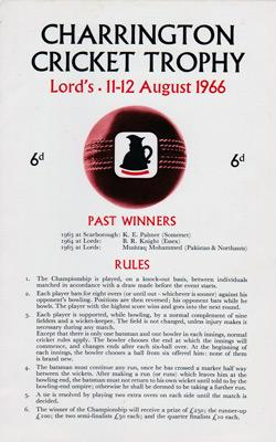 Charrington-Cricket-Trophy-Lords-August-1966-one-wicket-contest-competition-winner-fred-titmus-programme-signed-peter-parfitt-autograph-rules-tournament
