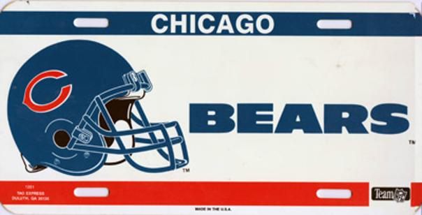 Chicago-Bears-memorabilia-USA-License-Plate-Official-NFL-merchandise-1985-Super-Bowl-XX-winners-champions