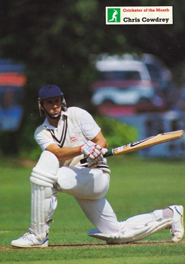 Chris-Cowdrey-autograph-Kent-CCC-cricket-memorabilia-signed-Cricketer-magazine-poster-England