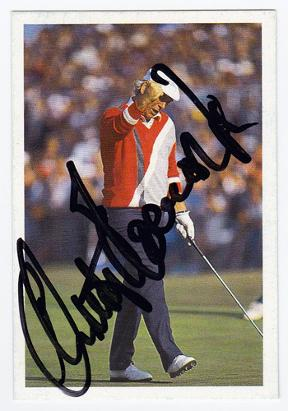 Christy O'Connor Jnr signed Ryder Cup card