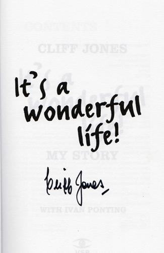 Cliff-Jones-autograph-signed-tottenham-hotspur-football-memorabilia-autobiography-its-a-wonderful-life-wales-double-thfc-spurs-signature
