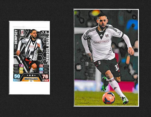 Clint-Dempsey-autograph-signed-fulham-football-memorabilia-usa-striker-signature-player-card