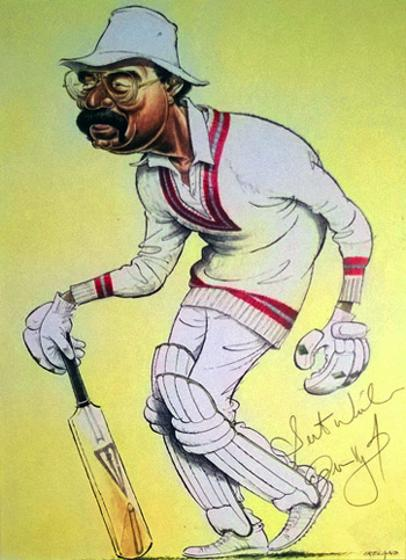 Clive-Lloyd-memorabilia Lancs CCC West Indies cricket memorabilia signed-John Ireland-print-Big Cat