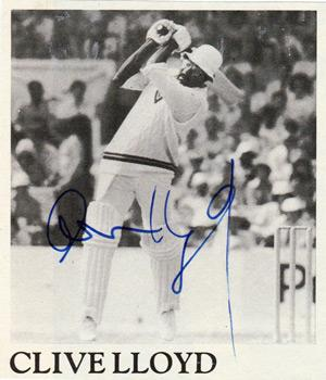 Clive Lloyd memorabilia signed West Indies cricket pic