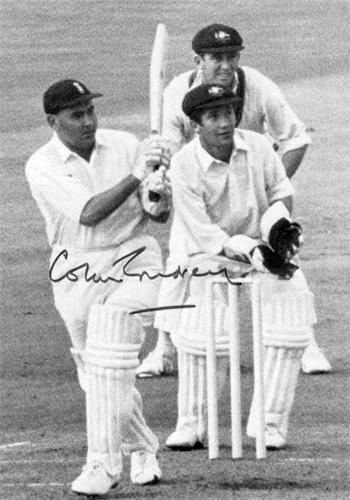 Colin-Cowdrey-autograph-signed-Kent-cricket-memorabilia-KCCC-sir-lord-England-captain-photo-MCC