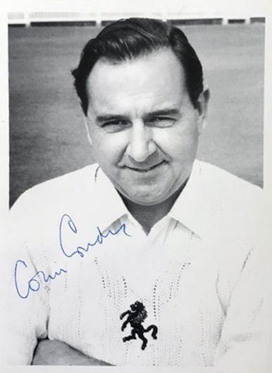Colin-Cowdrey-autograph-signed-Kent-cricket-memorabilia-sir-lord-England-captain-MCC-KCCC-postcard-portrait-photo