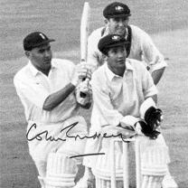 Colin-Cowdrey-autograph-signed-Kent-cricket-memorabilia-sir-lord-England-captain-MCC-KCCC