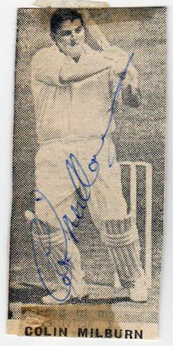 Colin-Milburn-autograph-signed-England-cricket-memorabilia-Northants-CCC-Ollie-MCC-Western-Australia-When-The-Eye-Has-Gone