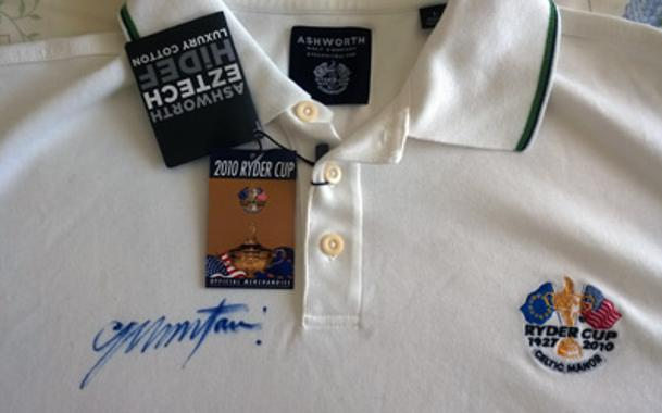 Colin Montgomerie signed Ryder Cup golf memorabilia Monty autograph Ryder Cup captain golfing memorabilia new tags