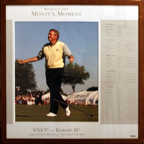 Colin-Montgomerie-autograph-signed-Ryder-Cup-golf-memorabilia-gleneagles-2010-winning-putt-singles-match-david-toms-captain-oakland-hills-2004-monty print