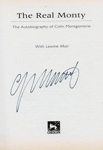 Colin-Montgomerie-autograph-signed-autobiography-golf-memorabilia-ryder-cup-captain-legend-real-monty-lewine-mair-book-2006-K-club-ireland-scotland-signature
