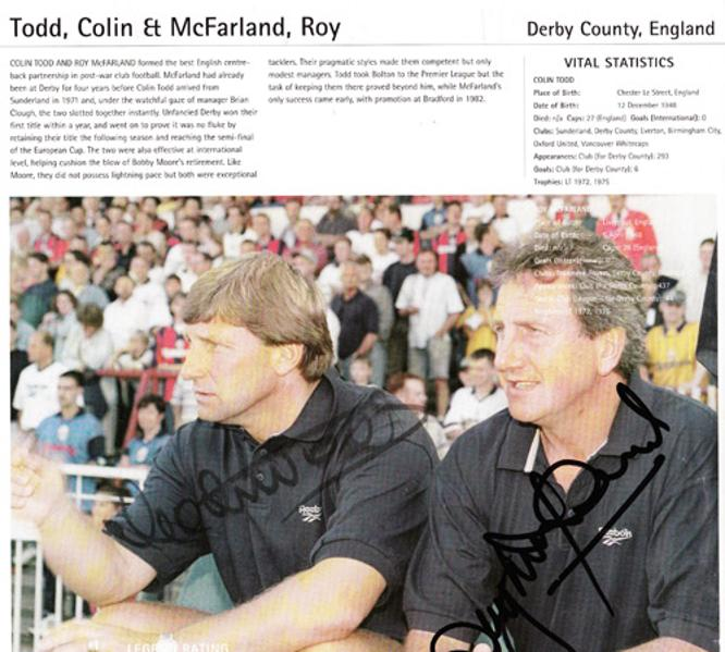 Colin-Todd-autograph-signed-Derby-County-FC-football-memorabilia-Roy-McFarland-signature-manager-coach-England-Rams