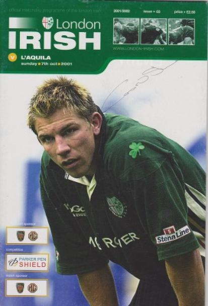 Conor oshea autograph signed london irish rugby memorabilia captain coach full back ireland italy