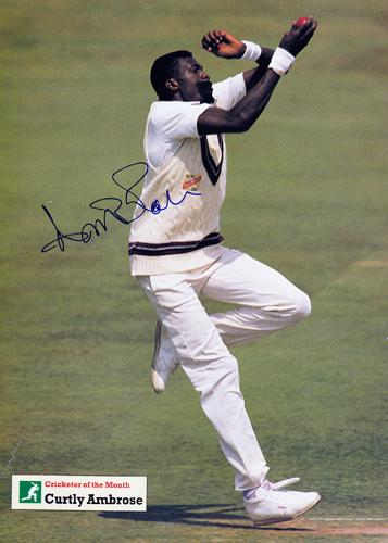 Curtley-Ambrose-autograph-signed-West-Indies-cricket-memorabilia-cricketer-photo-poster