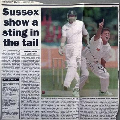 DARREN-GOUGH-autograph-signed-Yorkshire-cricket-memorabilia-England-signed-Test-Match-Yorks-ccc-bowling-Strictly-come-dancing