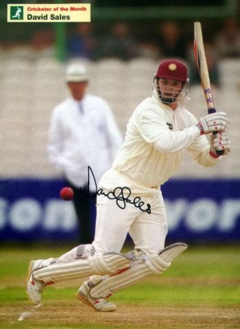 DAVID-SALES-memorabilia-signed-Northants-cricket-memorabilia-magazine-pic-autograph-350