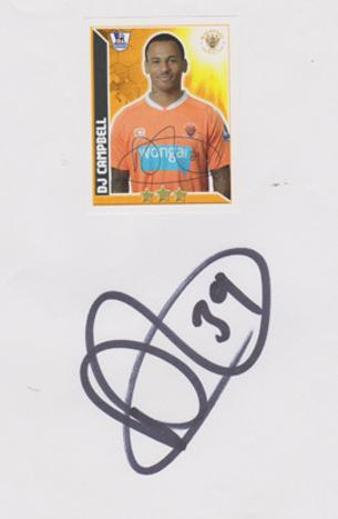 DJ-Campbell-autograph-signed-Blackpool-FC-Football-memorabilia-tangerines-premier-league-player-card-sticker