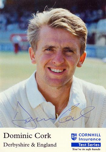 DOMINIC CORK Derbys CCC England signed Test Match autograph card cricket memorabilia
