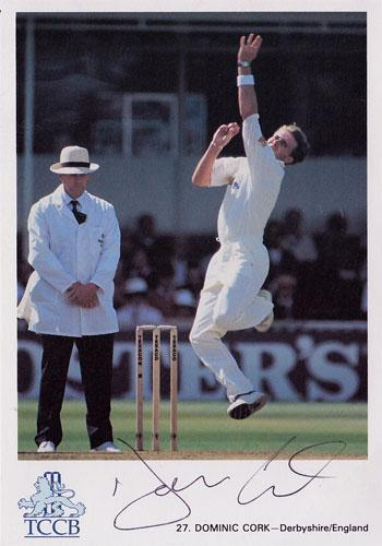 DOMINIC-CORK-autograph-signed-Derbys-ccc-Lancs-England-signed-Test-Match-cricket-memorabilia