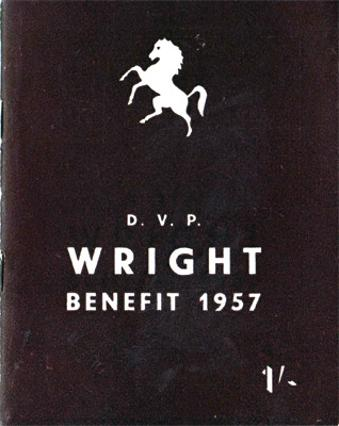 DVP-Doug-Wright-kent-cricket-memorabilia-1957-benefit-brochure-testimonial-england-leg-spinner-kccc-seven-hat-tricks-unluckiest-bowler-in-the-world-1932-book