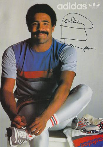 Daley Thompson 1980 1984 Olympic decathlon champion signed adidas promo card autograph