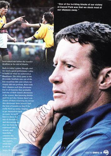 Danny-Wilson-autograph-signed-Sheffield-Wednesday-fc-football-memorabilia-sheff-weds-signature-manager