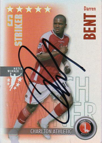 Darren-Bent-autograph-signed-charlton-athletic-football-memorabilia-stat-attax-match-winner-card-the-valley-cafc-england-ipswich-spurs-derby