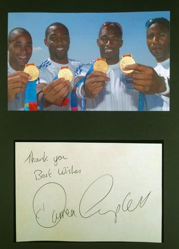 Darren-Campbell-autograph-signed-athletics-memorabilia-2004-Sydney-Olympics-Games-4-x-100m-relay-gold-medal-champion