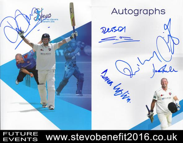 Darren-Stevens-autograph-signed-Kent-cricket-memorabilia-Stevo-2016-Benefit-Brochure-KCCC-Rob-Key-Sam-Northeast-Bell-Drummond-Sam-Billings-Derek-Ufton-signature