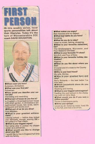 Dave-Houghton-autograph-signed-zimbabwe-cricket-memorabilia-test-match-odi-coach-worcs-ccc-david-question-and-answer-signature